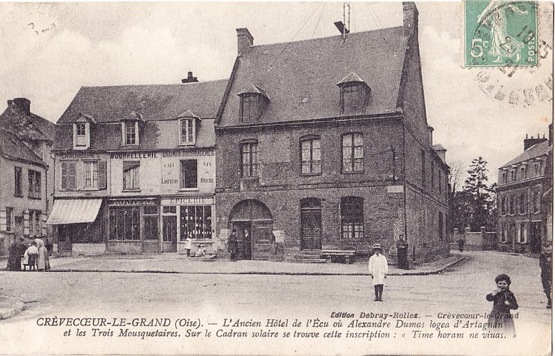 The Old Hotel de l'Ecu where Alexandre Dumas lodged D'Artagnan and the Three Musketeers